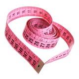 Fita de medição - coração Foto de Stock Royalty Free