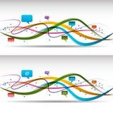 Fita de uma comunicação ilustração stock