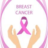 Fita do câncer da mama ilustração do vetor