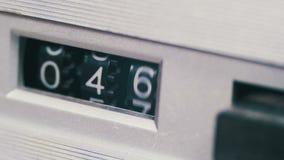 Fita do contador mecânico do jogador de cassete áudio filme