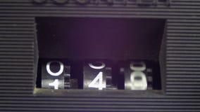 Fita do contador mecânico do jogador de cassete áudio video estoque