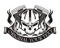 Fita do crânio da máquina da motocicleta Imagens de Stock Royalty Free