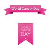 Fita do dia do câncer do mundo Fotografia de Stock Royalty Free