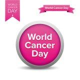 Fita do dia do câncer do mundo Foto de Stock