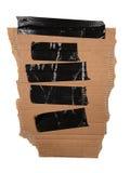 Fita do duto no cartão com trajeto Foto de Stock