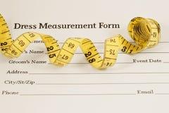 Fita do formulário e da medida da medida do vestido Fotografia de Stock