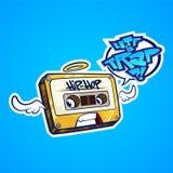 Fita do hip-hop com asas Imagens de Stock Royalty Free
