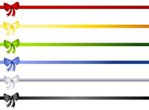 A fita do Natal curva beiras ou divisores Imagem de Stock