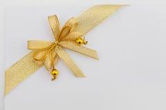 Fita do papel vazio e do ouro Imagem de Stock Royalty Free