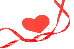 Fita do Valentim com corações Fotografia de Stock