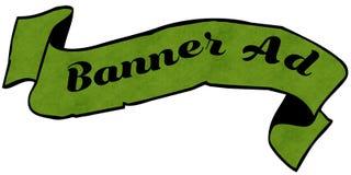 Fita do verde do ANÚNCIO da BANDEIRA Imagem de Stock Royalty Free
