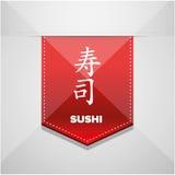 Fita do vermelho do sinal do sushi Fotografia de Stock