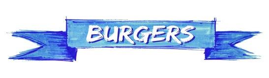 fita dos hamburgueres ilustração stock