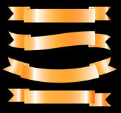 Fita dourada - elemento do projeto do vetor Fotografia de Stock Royalty Free