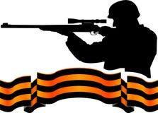 Fita e atirador furtivo de Georgievsy Imagens de Stock