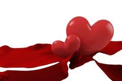 Fita e coração Foto de Stock Royalty Free