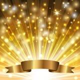 Fita no ouro ilustração do vetor