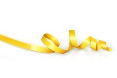 Fita ondulada amarelo para o partido ilustração stock