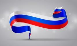 Fita ou bandeira da bandeira do russo Dia do símbolo de Rússia ilustração do vetor