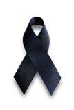 Fita preta da conscientização Símbolo da lamentação e da melanoma Imagem de Stock Royalty Free