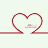Fita sob a forma do coração com sombra e espaço Fotos de Stock Royalty Free