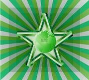 Fita verde da estrela do verde do vetor do fundo do negócio brilhante Foto de Stock