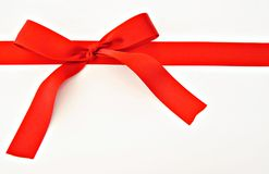 Fita vermelha Fotografia de Stock Royalty Free