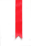 Fita vermelha da sustentação fotografia de stock royalty free