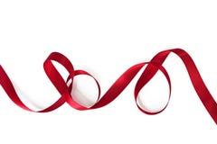 Fita vermelha de ondulação Imagem de Stock Royalty Free