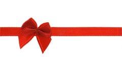Fita vermelha decorativa da curva Fotografia de Stock Royalty Free