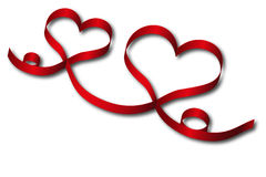 Fita vermelha do coração Imagens de Stock