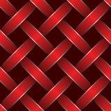 Fita vermelha tecida Fotos de Stock