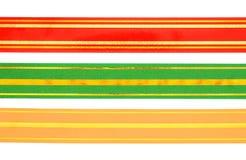 Fita vermelha, verde e do ouro Imagens de Stock