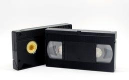 Fita VHS do casset de VDO em 80s no branco Foto de Stock