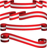 Fitas austríacas nas cores da bandeira isoladas no branco Foto de Stock