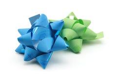 Fitas azuis e verdes imagem de stock