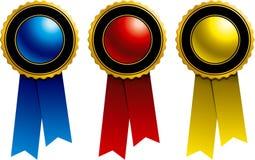 Fitas: Azul, vermelho e amarelo Imagens de Stock