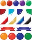 Fitas, bandeiras e coleção dos estouros Imagem de Stock