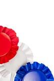 Fitas brancas e azuis vermelhas Imagens de Stock
