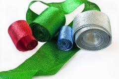 Fitas brilhantes Multi-coloured imagem de stock