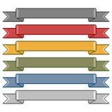 Fitas coloridas arte do pixel Imagem de Stock