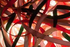 Fitas coloridas de matéria têxtil Fotos de Stock