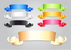 Fitas coloridas diferentes Ilustração Stock