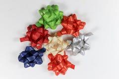 Fitas coloridas do pacote do presente Imagem de Stock Royalty Free