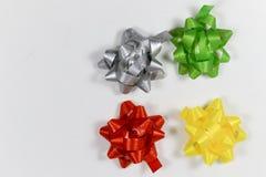 Fitas coloridas do pacote do presente Fotos de Stock