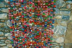 Fitas coloridos brilhantes/ornamentação/decoração Fotos de Stock