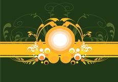 Fitas com projetos florais ilustração royalty free