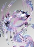 Fitas cor-de-rosa e azuis abstratas ilustração stock