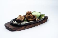 Fitas da carne de porco de Tandoori Tikka Fotografia de Stock Royalty Free