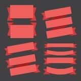 Fitas das bandeiras Fotos de Stock